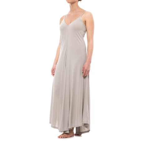 iRelax Jersey Nightgown - Sleeveless (For Women) in Visng Falling Snowflakes