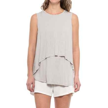iRelax Layered Slub-Jersey Lounge Shirt  - Sleeveless (For Women) in Visng Falling Snowflakes - Closeouts