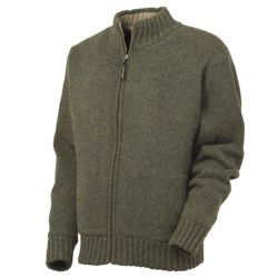 Irish Setter Easton Knit Sweater Jacket - Wool Blend, Sherpa Lining (For Men) in Olive