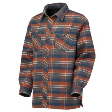 Irish Setter Russell Flannel Shirt - Long Sleeve (For Men) in Orange/Blue Plaid - Closeouts
