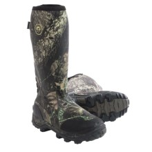 Irish Setter Rutmaster Rubber Hunting Boots - Waterproof, Insulated (For Men) in Mossy Oak Break-Up - Closeouts
