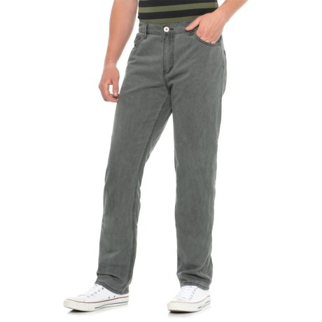 Iron Co. Plugg Washed Twill Jeans (For Men) in Dark Grey