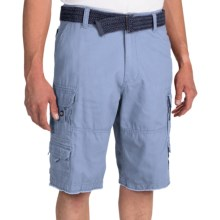 Iron Co. Twill Cotton Cargo Shorts (For Men) in Blue - Closeouts