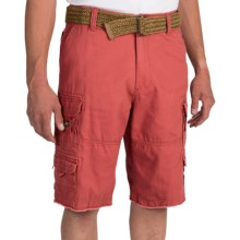 Iron Co. Twill Cotton Cargo Shorts (For Men) in Dusty Red - Closeouts