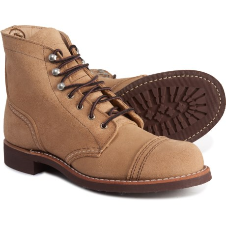 Iron Ranger Cap-Toe Boots - Leather (For Women) - SAND MOHAVE (7 )