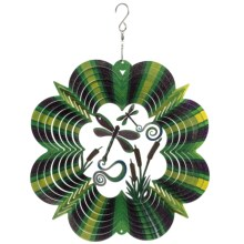 "Iron Stop Designer Wind Spinner - 10"" in 3D Dragonfly - Closeouts"