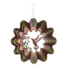 "Iron Stop Designer Wind Spinner - 10"" in Hummingbird - Closeouts"