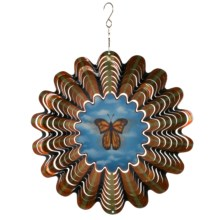 "Iron Stop Designer Wind Spinner - 10"" in Monarch Butterfly - Closeouts"