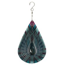 Iron Stop Designer Wind Spinner in Blue Lotus Tear Drop - Closeouts