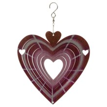 Iron Stop Designer Wind Spinner in Red Heart - Closeouts
