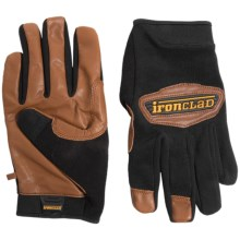 Ironclad Cowboy Leather Work Gloves (For Men and Women) in Dark Brown - Closeouts