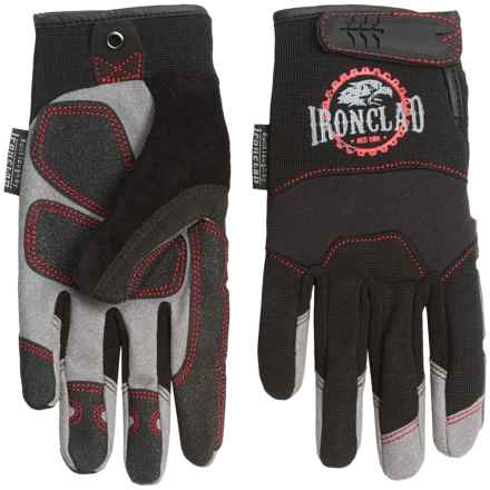 Ironclad Redline Abrasion Gloves with Reinforced Fingernail Guards (For Men) in Black - Closeouts