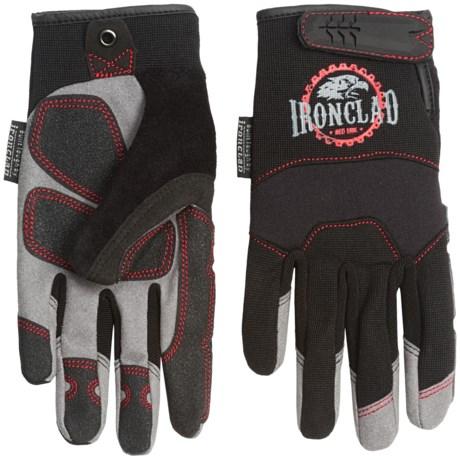 Ironclad Redline Abrasion Gloves with Reinforced Fingernail Guards (For Men) in Black