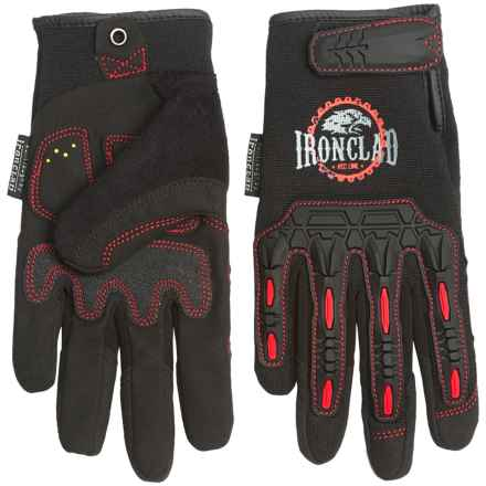 Ironclad Redline Impact Gloves with Duraclad® Palm (For Men) in Black - Closeouts