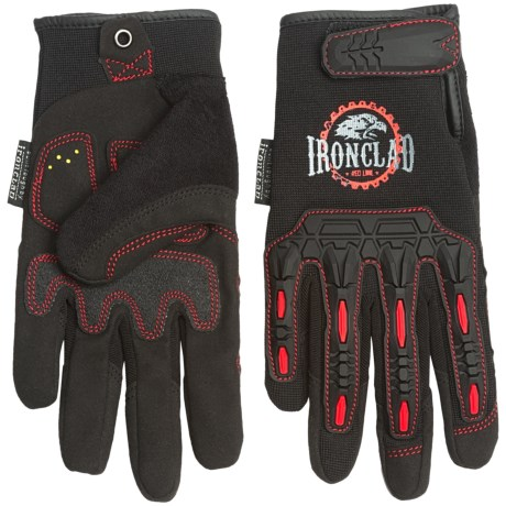 Ironclad Redline Impact Gloves with Duraclad® Palm (For Men) in Black