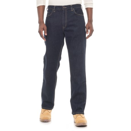 Irontown Classic Work Jeans - 5-Pocket (For Men) in Dark Blue Colorwash