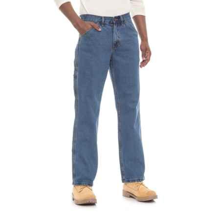 Irontown Denim Carpenter Work Pants (For Men) in Medium Blue Colorwash - Closeouts