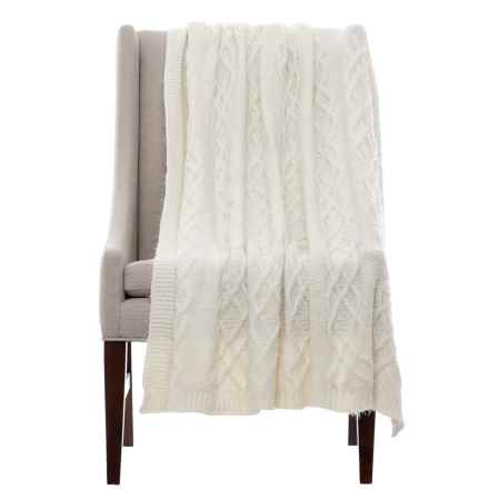 "Isaac Mizrahi Celtic Lash Throw Blanket - 50x60"" in Ivory - Closeouts"