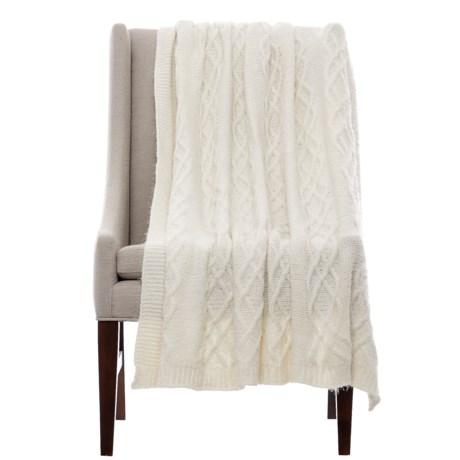 "Isaac Mizrahi Celtic Lash Throw Blanket - 50x60"" in Ivory"