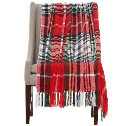 "Isaac Mizrahi Constance Throw Blanket - 50x60"" in Bright Red - Closeouts"