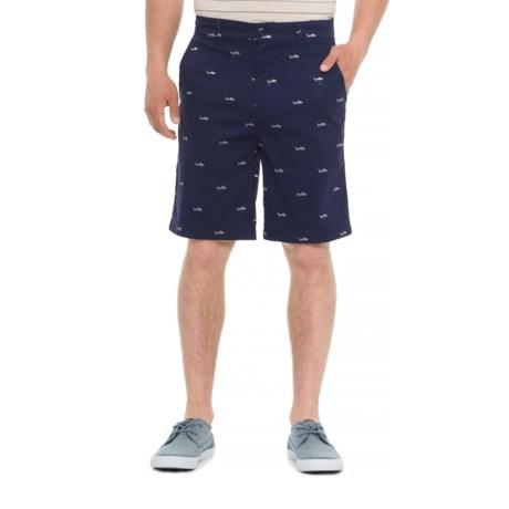 Isaac Mizrahi Embroidered Shark Critter Shorts (For Men) in Shark