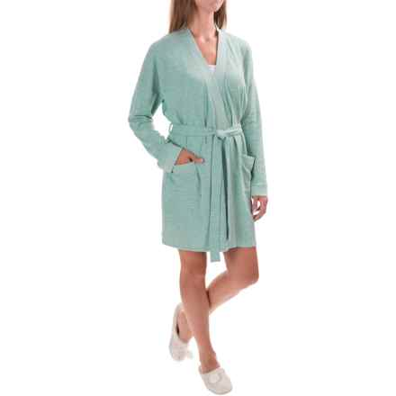 Isaac Mizrahi Front Pocket Robe - Long Sleeve (For Women) in Mint Heather - Closeouts
