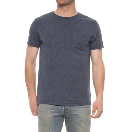 Isaac Mizrahi Heathered Crew Neck Shirt - Short Sleeve (For Men) in Navy Heather