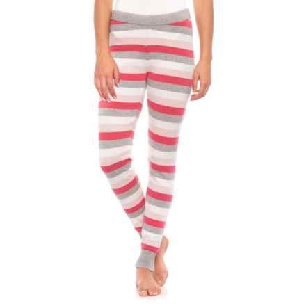 Isaac Mizrahi Multi Stripe Leggings (For Women) in True Flint Heather/Taffy Pink/Pink Cloud/Ivory Sol - Closeouts