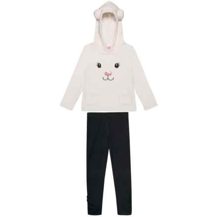 Isaac Mizrahi Polar Bear Plush Hoodie and Leggings Set - 2-Piece (For Little and Big Girls) in Snow White - Closeouts