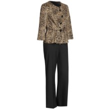 Isabella Animal Print Pant Suit  (For Women) in Black/Multi - Closeouts