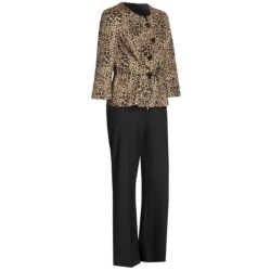Isabella Animal Print Pant Suit  (For Women) in Black/Multi