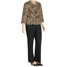Isabella Animal Print Pant Suit - Plus Size (For Women) in Black/Multi - Closeouts