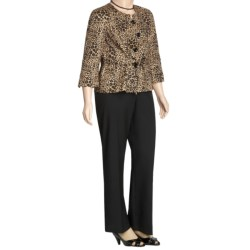 Isabella Animal Print Pant Suit - Plus Size (For Women) in Black/Multi