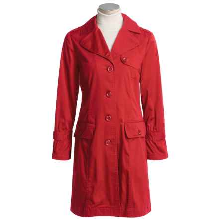 Isabella Bird Signature Trench Coat - Stretch Cotton Sateen (For Women) in Jester Red - Closeouts