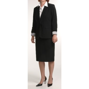 Isabella Boyfriend Suit (For Women) in Black