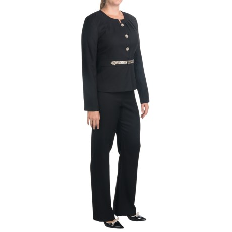 Isabella Cross Dye Pant Suit (For Women) in Black