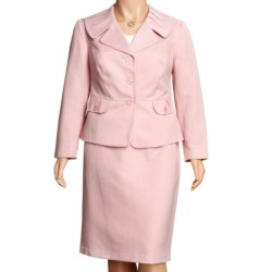 Isabella Matelasse Suit - Plus Size (For Women) in Pink