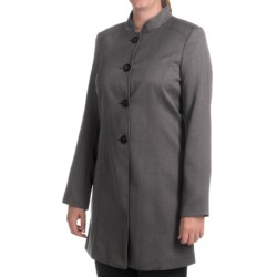 Isabella Pant Suit with Birdseye Duster Jacket (For Women) in Black/White