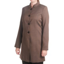 Isabella Pant Suit with Birdseye Duster Jacket (For Women) in Brown - Closeouts