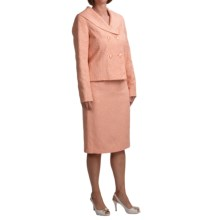 Isabella Shantung Suit (For Women) in Coral - Closeouts