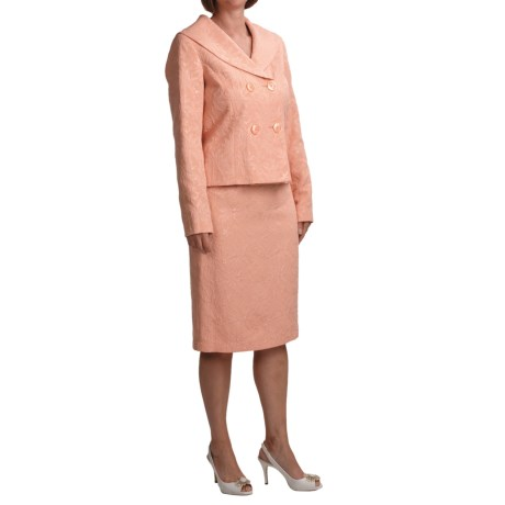 Isabella Shantung Suit (For Women) in Coral