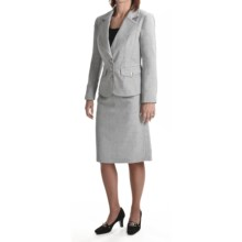 Isabella Skirted Suit (For Women) in Light Grey - Closeouts