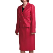 Isabella Textured Dobby Suit (For Women) in Red - Closeouts