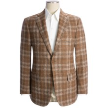 Isaia Alpaca Plaid Sport Coat (For Men) in Light Brown/Charcoal/White - Closeouts