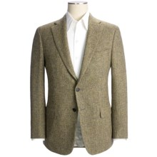 Isaia Basket Weave Sport Coat - Wool (For Men) in Grey/Gold - Closeouts