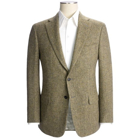 Isaia Basket Weave Sport Coat - Wool (For Men) in Grey/Gold