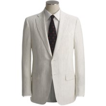 Isaia Beaded Stripe Suit - Linen (For Men) in Off White/Black - Closeouts