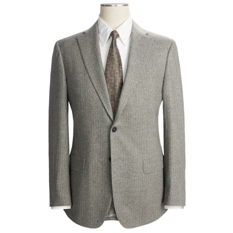 Isaia Beaded Stripe Suit - Wool-Cashmere Blend (For Men) in Grey Taupe