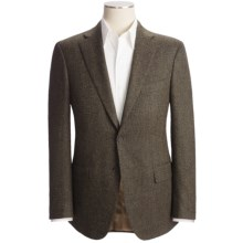 Isaia Birdseye Sport Coat - Wool-Cashmere (For Men) in Black/Green - Closeouts