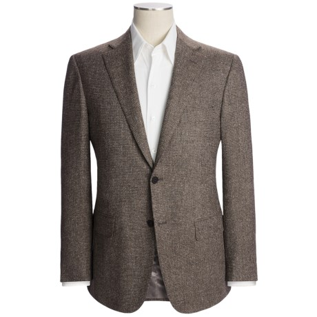 Isaia Birdseye Sport Coat - Wool-Silk-Cashmere (For Men) in Brown